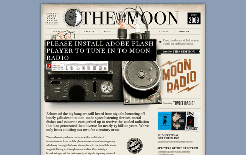 The New York Moon Web Design