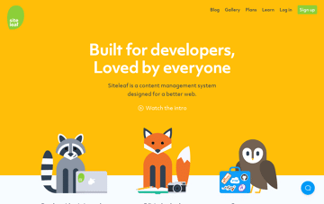 Siteleaf - A friendly CMS for your static site Web Design