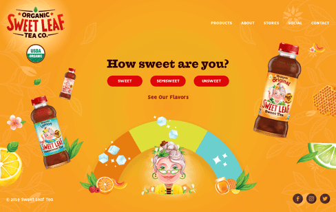 Sweet Leaf Tea Co. Web Design