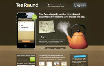 Tea Round App Web Design