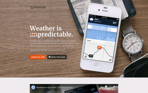 Weathertron Web Design