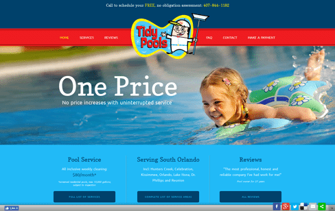 Tidy Pools Web Design