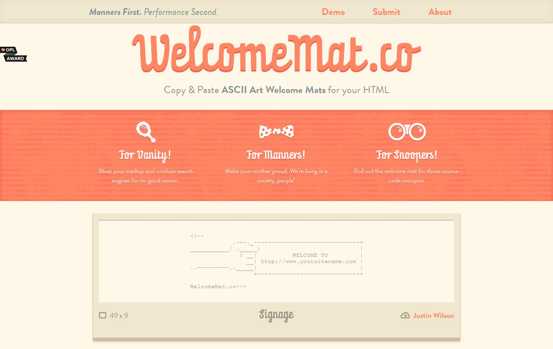 WelcomeMat.co