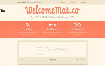WelcomeMat.co Web Design