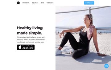 Zova, mobile application Web Design
