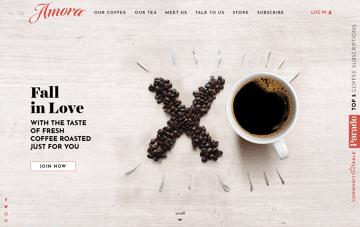 Amora Coffee Web Design