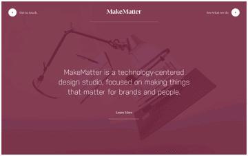 MakeMatter Web Design