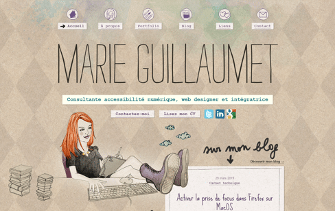 Marie Guillaumet Web Design