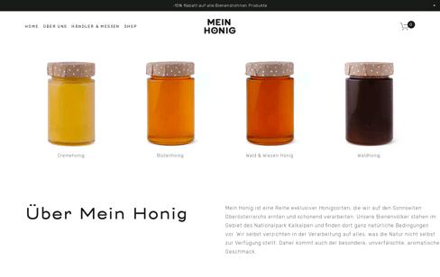 Mein Honig Web Design