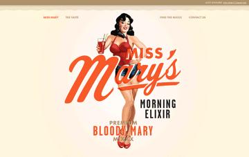 Miss Mary's Morning Elixir Web Design