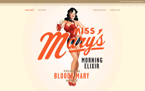 Miss Mary's Morning Elixir Web Design