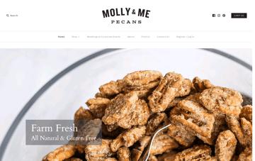 Molly & Me Pecans Web Design