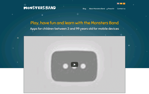 Monsters Band Web Design