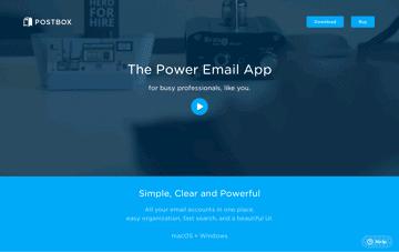 Postbox e-mail App Web Design