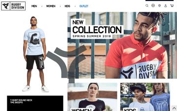 Rugby Division Sportswear Web Design