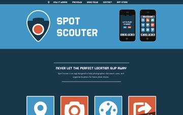 Spot Scouter App Web Design