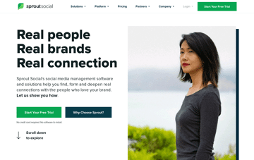 Sprout Social Web Design