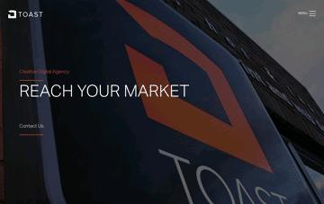 Toast, Digital Agency Web Design