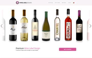 Wine Label Design Web Design