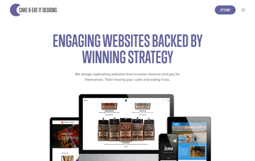 Cake & Eat It Designs Web Design