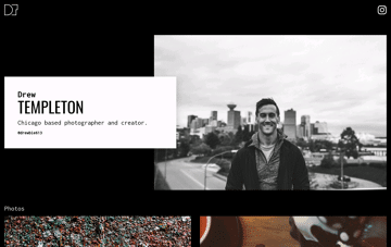 Drew Templeton, photographer Web Design