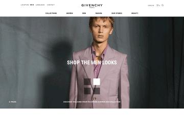 GIVENCHY Paris Web Design