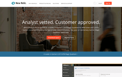 New Relic  Web Design