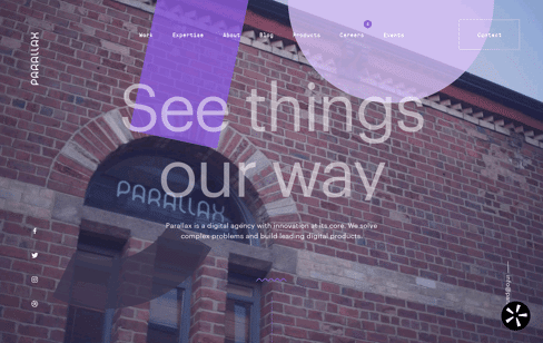 Parallax, Digital Agency Web Design