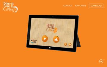 Rustic Citrus Web Design