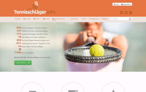 Tennisschläger.info — Alle Infos über Tennisschläger Web Design