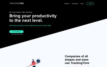 TrackingTime  Web Design