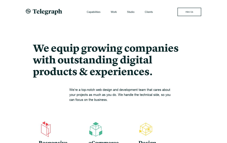 Telegraph | A top-notch web design and development team that cares