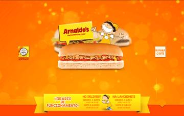 Arnaldo's Lanches Web Design