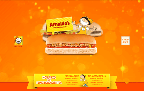 Arnaldo's Lanches Web Design