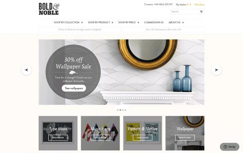 Bold & Noble    Web Design