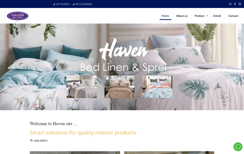 HAVEN by EYES|ONLY Web Design
