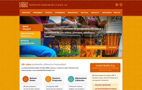 Instituto Familiar de la Raza Web Design