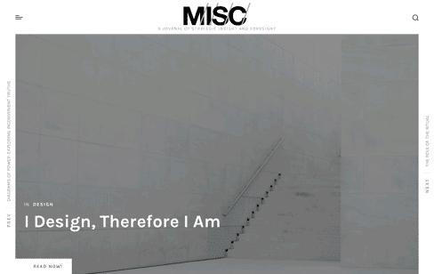 MISC Magazine Web Design
