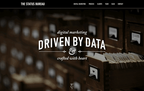 The Status Bureau Web Design