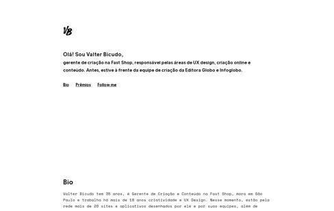 Valter Bicudo Web Design