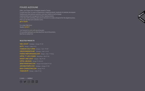 Azzoune.com Web Design