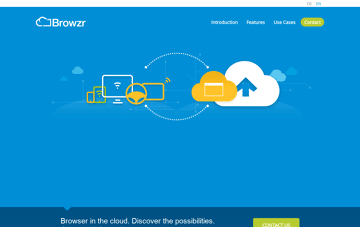 Browzr – Browser in the Cloud Web Design