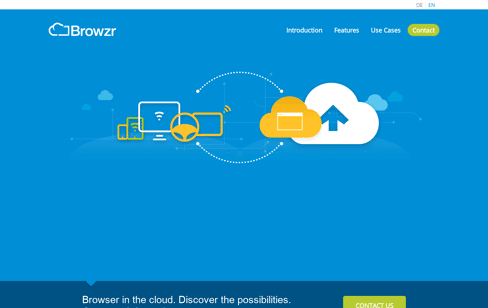 Browzr – Browser in the Cloud Web Design