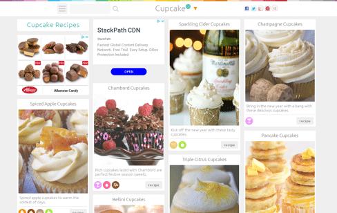 Cupcake Recipes Web Design