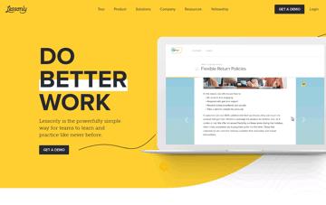 Lessonly Web Design