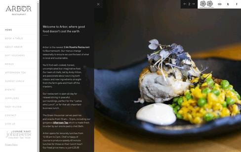 Arbor Restaurant Web Design
