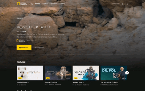 National Geographic Web Design