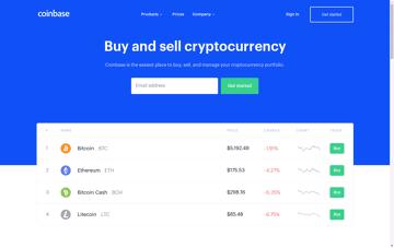 Coinbase Web Design