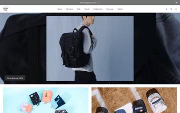 Herschel Supply Co. USA Web Design