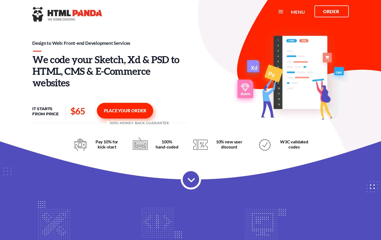 PSD to HTML: Convert PSD to HTML / HTML5 Service @ HTMLPanda